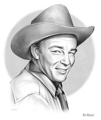 Drawings - Roy Rogers by Greg Joens