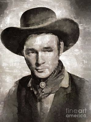 Elvis Presley Painting - Roy Rogers, Western Star And Singer by Mary Bassett