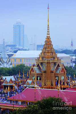 Cremation Photograph - Royal Cremation Ceremony by Buchachon Petthanya
