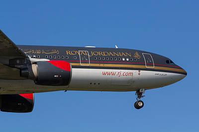 Jordanian Photograph - Royal Jordanian Airlines Airbus A330 by David Pyatt