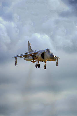 Photograph - Royal Navy Sea Harrier. by Chris Smith