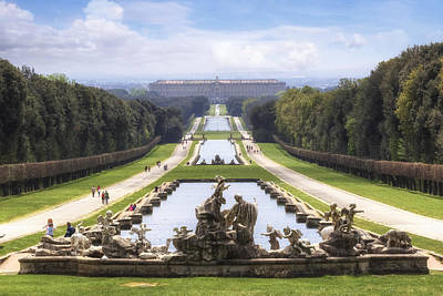 Royal Palace Of Caserta Print by Joana Kruse