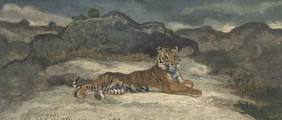 Drawing - Royal Tiger by Antoine-Louis Barye