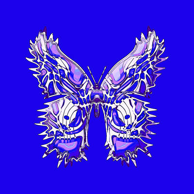 Digital Art - Royalflybutterfly by Deborah Runham