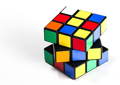 Unsolved Photograph - Rubiks Cube by Photo Researchers
