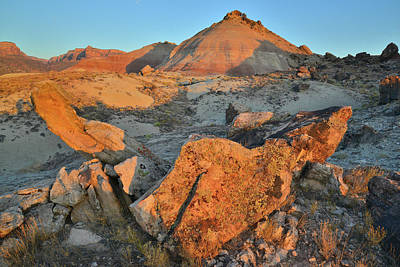 Photograph - Ruby Mountain Boulders At Sunrise by Ray Mathis