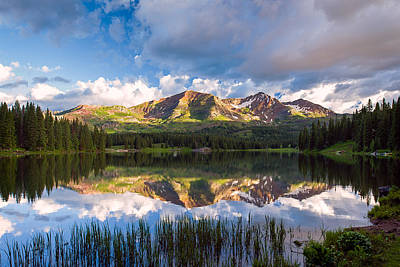 Photograph - Ruby Peaks by Michael Blanchette