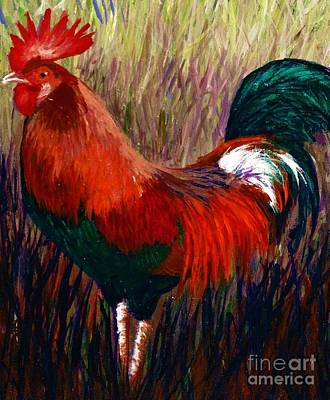 Rudy The Rooster Art Print