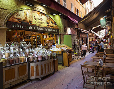 Old City Photograph - Rue Pairoliere In Nice by Elena Elisseeva