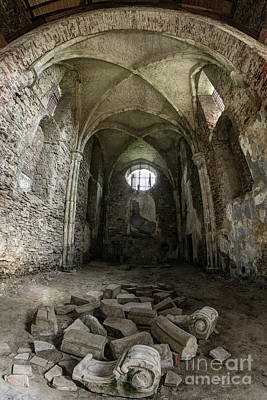 Photograph - Ruins Of The Augustinian Monastery, Pivon, Czech Republic  by Michal Boubin