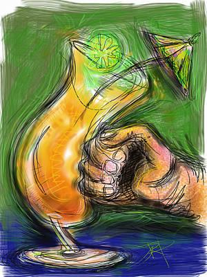 Punch Digital Art - Rum Punch by Russell Pierce
