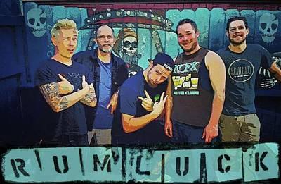 Bass Drum Mixed Media - Rumluck Band by Robert Usher