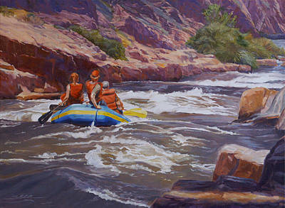 River Rafting Painting - Running The Numbers by Shawn Shea