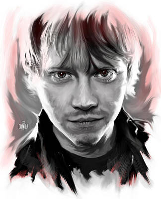Digital Art Rights Managed Images - Rupert Grint as Ronald Weasley Royalty-Free Image by Garth Glazier