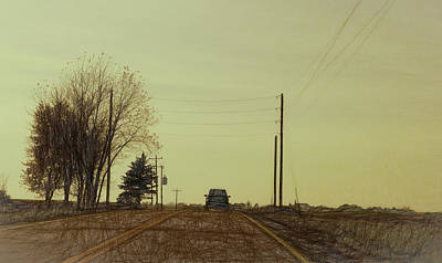 Digital Art - Rural Road by Susan Stone