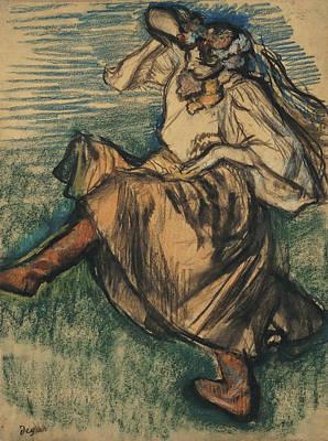 Impressionism Drawing - Russian Dancer by Edgar Degas