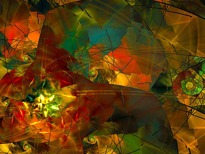 Digital Art - Rusted Star by Amy  Gillespie