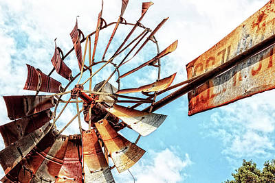 Photograph - Rusted Windmill by Deborah Ann Stott