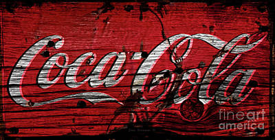 Photograph - Rustic Coca Cola Sign by John Stephens