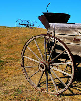 Rustic Wagon Art Print by Perry Webster