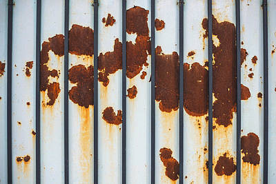 Photograph - Rusty Textured Metal, Texture Background by Eduardo Huelin