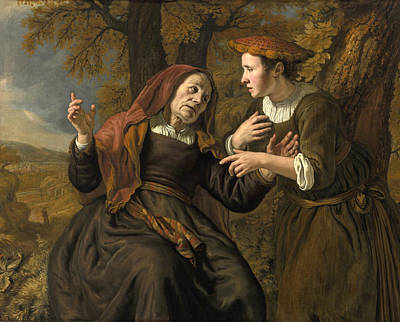 Ruth Painting - Ruth And Naomi by Jan Victors