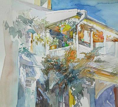 Tbilisi Drawing - S. Zaldastanishvili Str. by Anastasia Logvinenko