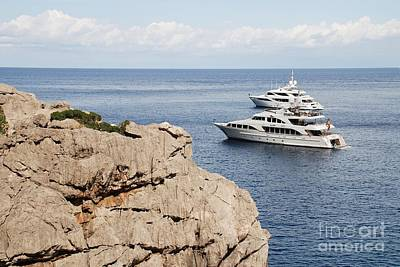 Photograph - Sa Calobra Super Yachts On Majorca by David Fowler
