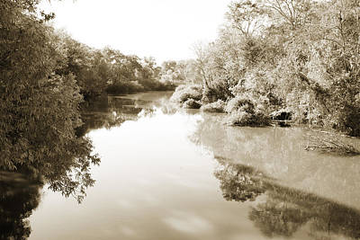 Flooding Digital Art - Sabine River Near Big Sandy Texas Photograph Fine Art Print 4106 by M K  Miller