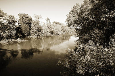 Painting - Sabine River Near Big Sandy Texas Photograph Fine Art Print 4110 by M K Miller