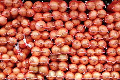 Photograph - Sacks Of Onions by Yali Shi