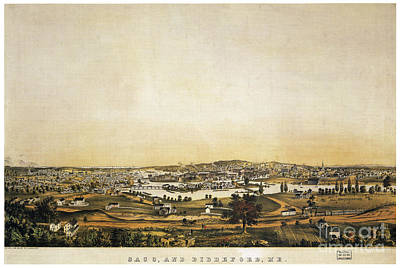 Drawing - Saco And Biddeford, C1855.  by Granger