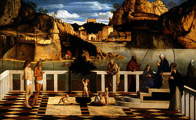 Painting - Sacred Allegory by Giovanni Bellini