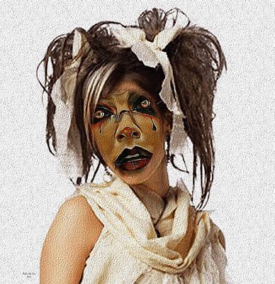 Digital Art - Sad Clown by Artful Oasis
