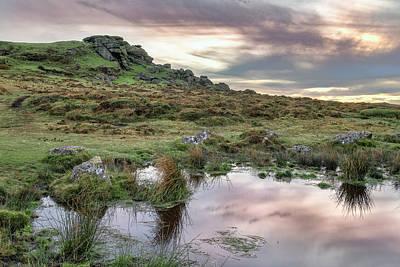Gel Photograph - Saddle Tor - Dartmoor by Joana Kruse