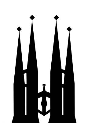Mixed Media - Sagrada Familia by Asbjorn Lonvig