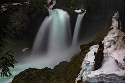 Print featuring the photograph Sahalie Falls by Cat Connor