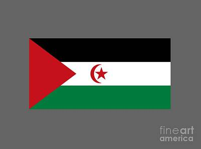 State Digital Art - Sahrawi Arab Democratic Republic Flag by Frederick Holiday