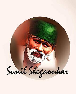 Sai Painting - Saibaba by Sunil Shegaonkar