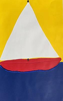 Painting - Sailboat by Matthew Brzostoski