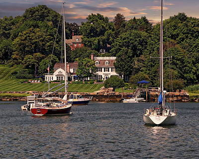 Photograph - Sailboats In The Harbor by Anthony Dezenzio