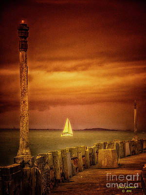 Photograph - Sailing  ... by Chuck Caramella