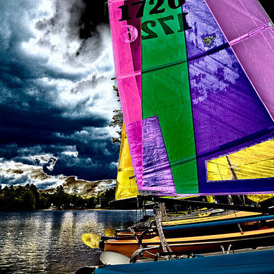 Sail Boats Photograph - Sailing After The Storm II by David Patterson