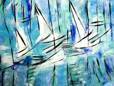 Painting - Sailing Blue by Nikki Dalton