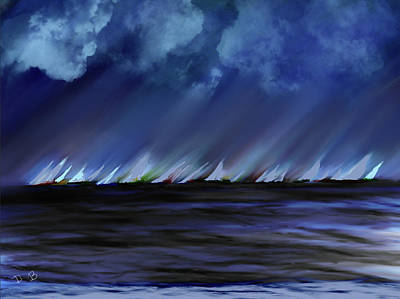 Painting - Sailing by Dick Bourgault