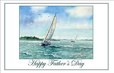 Boston Harbor Painting - Sailing Harbor Islands by Laura Lee Zanghetti