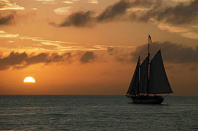 Photograph - Sailing Into The Sunset by Robert Shard