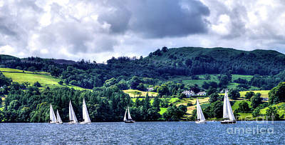 Photograph - Sailing Lake Windermere by Lance Sheridan-Peel