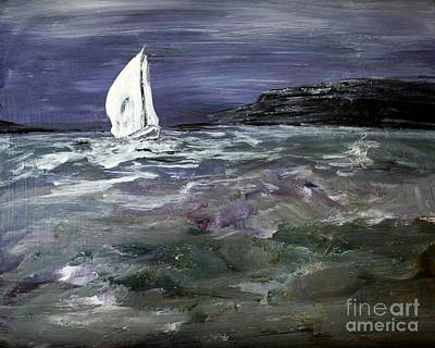 Painting - Sailing The Julianna by Julie Lueders