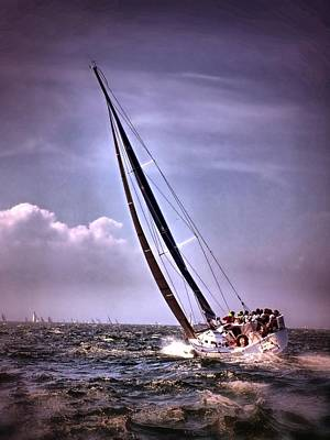 Photograph - Sailing To Nantucket 003 by Bruce Gannon